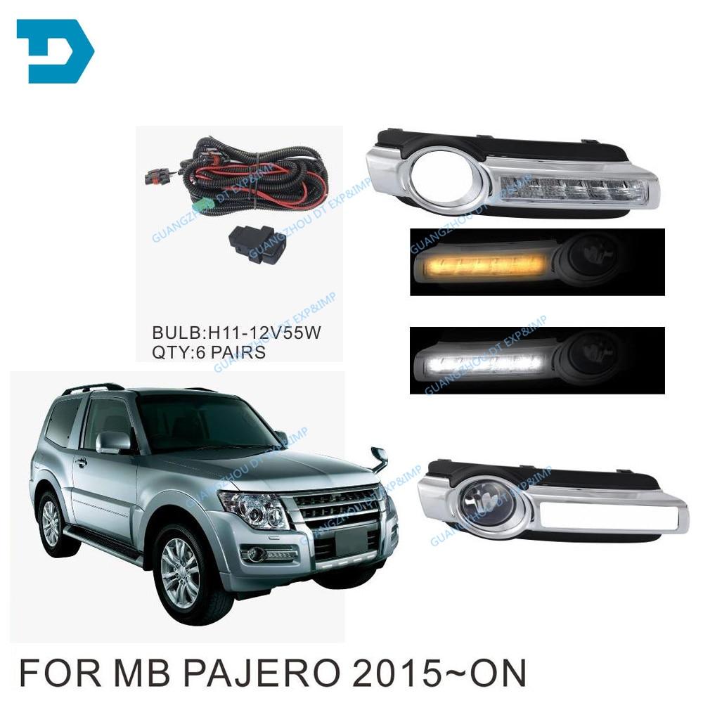 pajero v97 v93 led DAY RUNNING font b LAMP b font fog font b lamp b