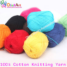 Line 100% Cotton Knitting Yarn 500g/10pcs Super Soft Best Quality Hand-knitted Yarn Ball Scarf Wool Yarny Baby free shipping стоимость