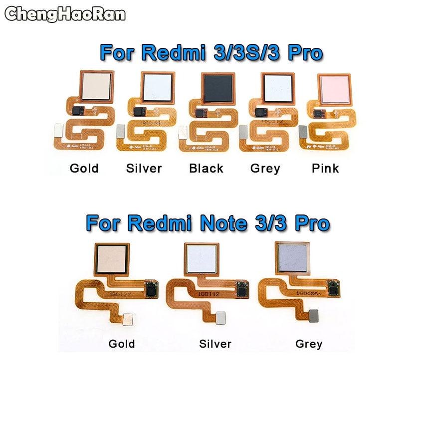 ChengHaoRan Fingerprint Scanner For Xiaomi Redmi 3 3S Pro Note 3 ID Home Button Menu Return Key Recognition Sensor Flex Cable