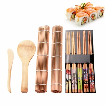13Pcs/set DIY Sushi Maker Set Rice Mold Kitchen Sushi Making Tool Kit Sushi Mold Cooking Tools Set For Sushi Roll Cooking Tools