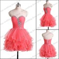 SML1837 Beautiful Teenager Ball gown Tulle Beaded 2017 mini short real photo coctail dresses for party