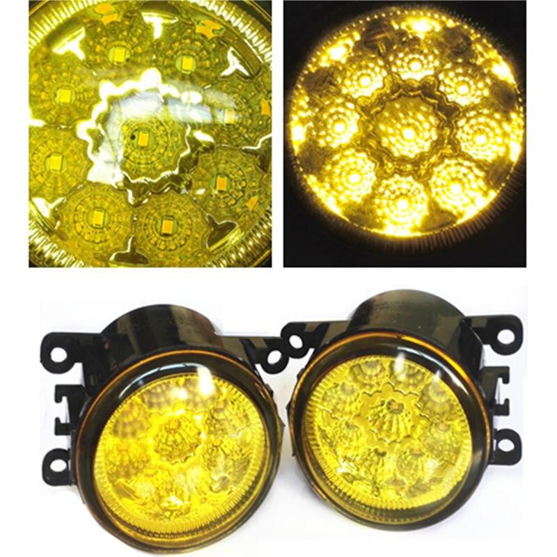 For Jaguar X-TYPE Estate 2003-2009 High Bright LED Fog Lamps Golden Eye Yellow Glass Car Styling Refit купить jaguar x type бу