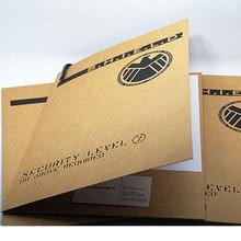 3 pcs SHIELD folder Iron Man Aegis Special Agent Aegis Bureau folder Aegis archive bag aegis