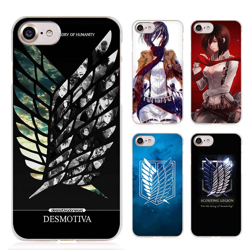 official photos 1bb4f e1dd7 BINYEAE Attack On Titan logo japanese anime Clear Cell Phone Case Cover for  Apple iPhone 4 4s 5 5s SE 5c 6 6s 7 Plus