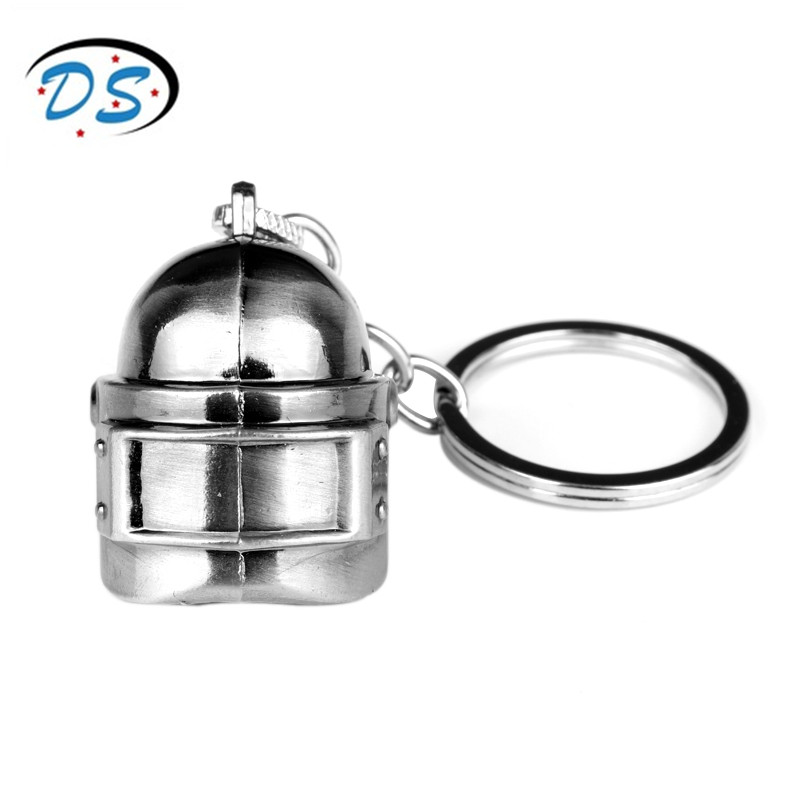 dongsheng jewelry pubg keychain Game Accessories Props Model 3D Helmet Key Chains Car Key Holder chaveiro