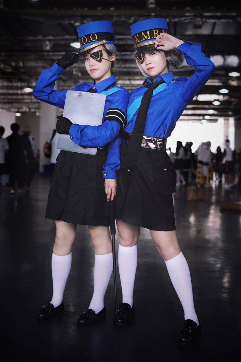 Persona 5 Twin Prison Wardens Caroline and Justine Cosplay Costume Unisex Adult Outfits Halloween Carnival Uniform Custom Made