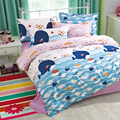 yiwuxuege 2017 new Korean child version of the cartoon Marine Elves bedding set 4PCS