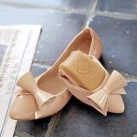34 45 Plus Size Shoes Fashion Fold Up Women Shoes Autumn Outdoor Women Flat Loafers Shoes