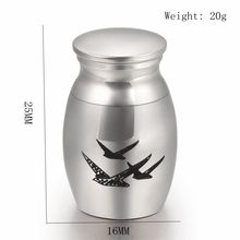 Seagull Laser Pet/ Human Cremation Urn Locket Funeral Ashes Casket Loss of Love Keepsake Jewelry 316L Stainless Steel Material