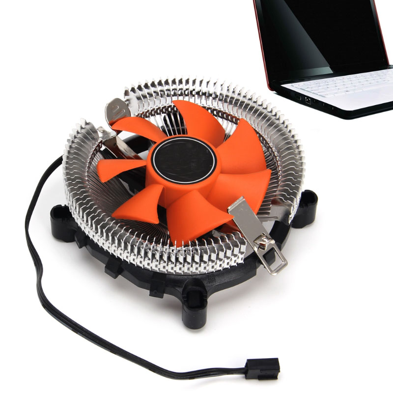 2200rpm CPU Silent Fan Cooler Cooling Heatsink For Intel LGA775/1155 AMD AM2/3 three cpu cooler fan 4 copper pipe cooling fan red led aluminum heatsink for intel lga775 1156 1155 amd am2 am2 am3 ed