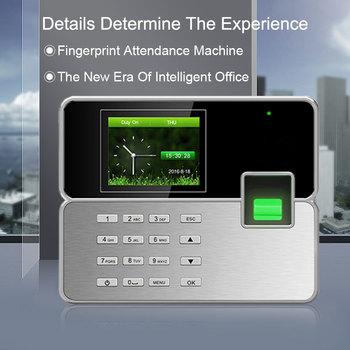 цена на Biometric Time Attendance System Fingerprint TCP/IP USB Reader Time Clock Recorder Employees Device Fingerprint Time Attendance