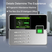 Biometric Time Attendance System Fingerprint TCP/IP USB Reader Time Clock Recorder Employees Device Fingerprint Time Attendance