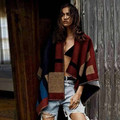 Alta calidad Original edición de la venta mujeres de cabo y Poncho a cuadros manta capa Poncho cabo Outwear mantón escudo envío gratis