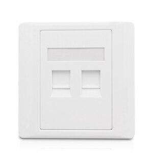 Image 5 - 2 Ports CAT6 RJ45 Internet Frontplatte LAN Anschluss Für Gigabit N Wand Panel Weiß Farbe