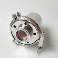 Fit 38/51mm Pipe OD x 1.5 2 Tri Clamp 2.5 5 Filter Sanitary Breather 304 Stainless Steel Homebrew