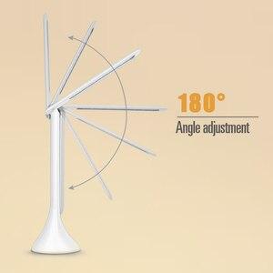 Image 3 - Lampe tactile pliable avec calendrier, lumière à intensité réglable, pour une Table de bureau, modèle LED