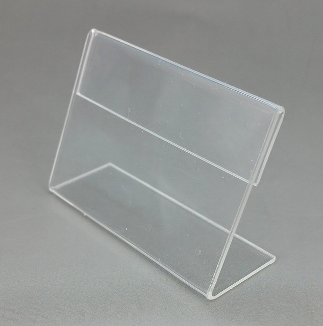 7x5cm clear acrylic plastic table sign price tag label display paper