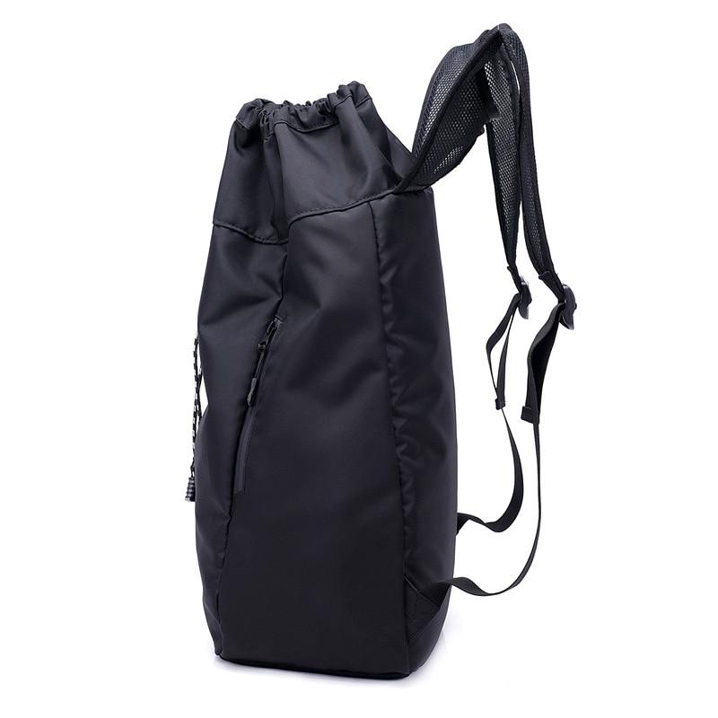 Men's Bags Monerffi Men Large Basketball Backpack School Bags For Balls Soccer Drawstring Mash Pack Fitness Bucket Bag Outdoor Sports Bag