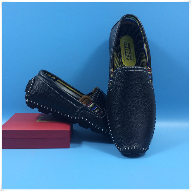 38-47 men loafers Top quality Genuine leather comfortable handsome brand men flats K389