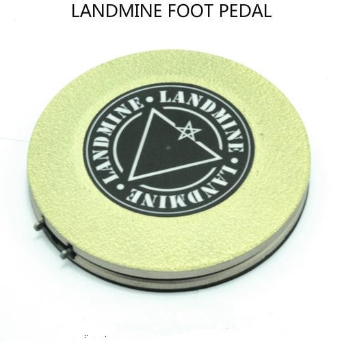 Recommended New Light Yellow Plastic Landmine Foot Switch Tattoo Foot Pedals Wireless for tattoo machine tattoo supply