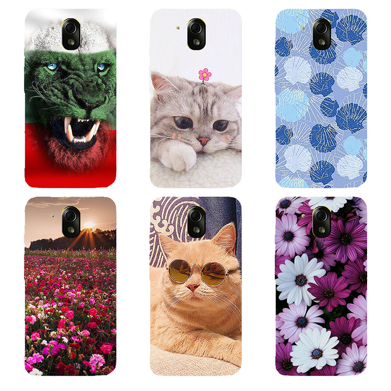 FOR HTC Desire 526 Case hard pc Back Cover FOR HTC 526 526G 526G 326 326G Funda Capa cat Rose Phone Cases FOR HTC 526 4.7""