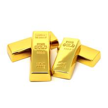 Metal Gold bars brick model USB Flash Drive Bullion pen drive memory Stick pendrive 4GB 8GB 16GB 32GB 64GB U disk thumb drive cheap Creative Rectangle Dec 2016 USB 2 0
