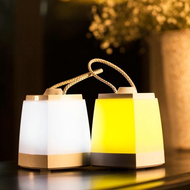 Ретро СВЕТОДИОДНЫЕ Night Light Портативный Подвесной Светильник Бар USB Аккумуляторная Затемнения энергосберегающие USB Передачи Настенный светильник Аварийного Освещения