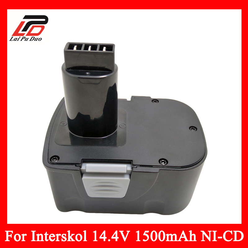 Replacement Power Tool Battery Cordless Drill for Interskol 14.4v H14 14.4V 1500mAh Ni-CD DA-13 / 14.4E for bosch 24v 3000mah power tool battery ni cd 52324b baccs24v gbh 24v gbh24vf gcm24v gkg24v gks24v gli24v gmc24v gsa24v gsa24ve