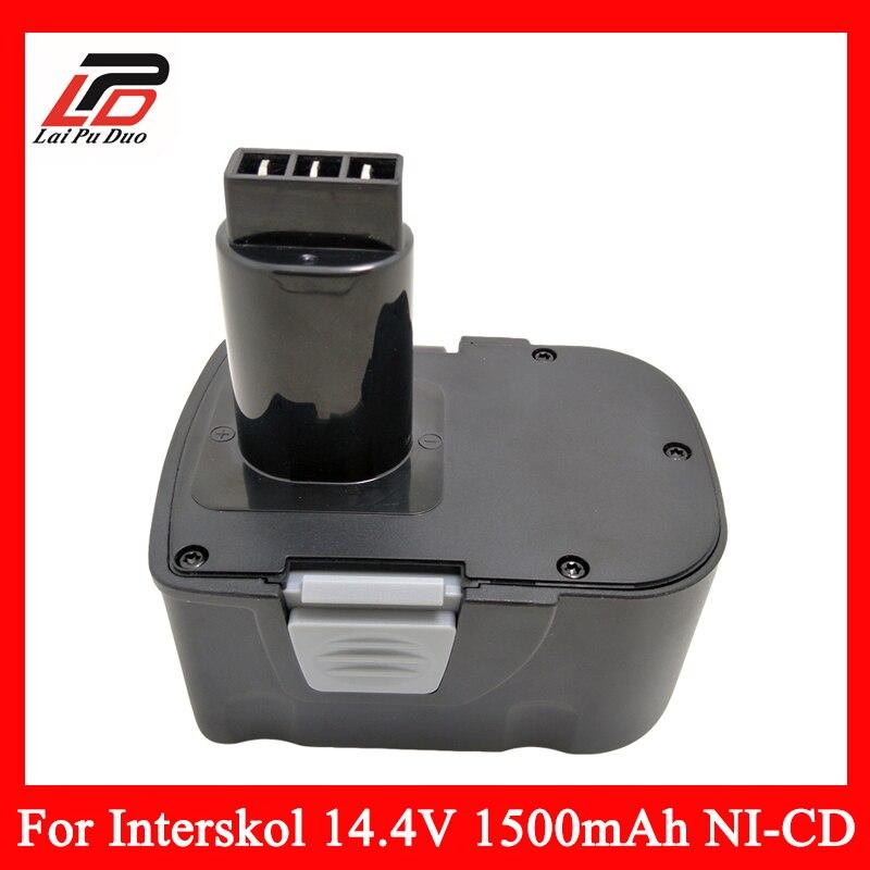 Remplacement Power Tool Batterie Perceuse sans fil pour Interskol 14.4 v H14 14.4 V 1500 mAh Ni-cd DA-13/14.4E