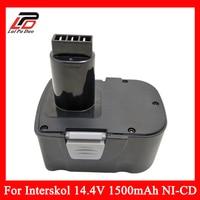 Replacement Power Tool Battery Cordless Drill for Interskol 14.4v H14 14.4V 1500mAh Ni CD DA 13 / 14.4E