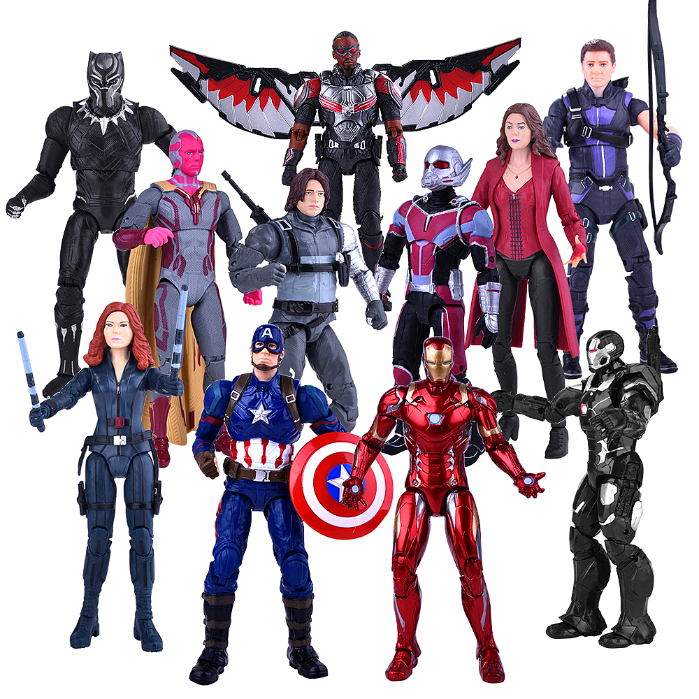 Marvel Captain Batman Aaction Figure The Avenger Spiderman  Iron Man PVC Actions Venom Collection figures Model Toy Hand stand