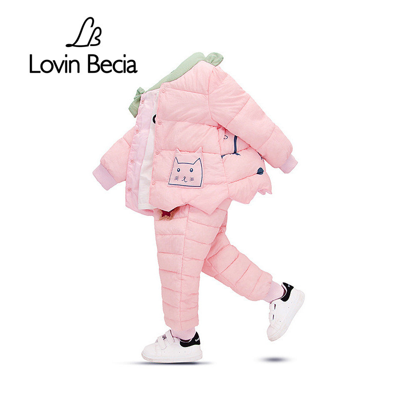 Lovinbecia winter baby girls clothing set duck down clothes sets children jacket coat overalls kid girl warm Waterproof jacket 2016 winter boys ski suit set children s snowsuit for baby girl snow overalls ntural fur down jackets trousers clothing sets