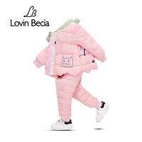 Lovinbecia Winter Baby Girls Clothing Set Duck Down Clothes Sets Children Jacket Coat Overalls Kid Girl