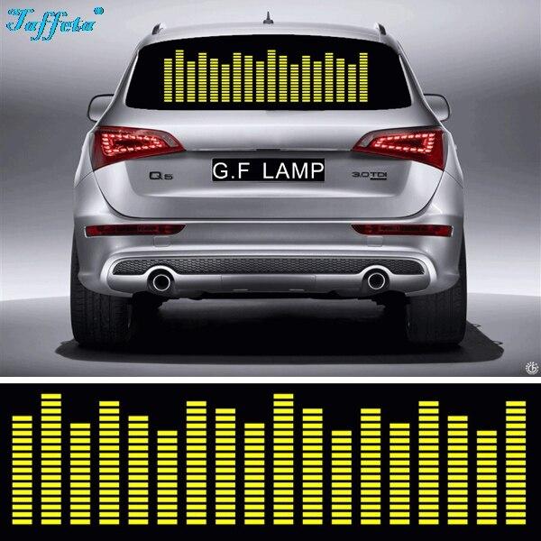 W45 W90 W70 W80 W90 W114 Yellow Colors Sound Rhythm Activated El Equalizer Car Music Sticker Glow Flash Panel Designs Blast