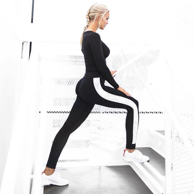 Popular Fashion Causal Skinny Leggings Women's Summer Stripe   Pants   Clothes   Capris   Trousers