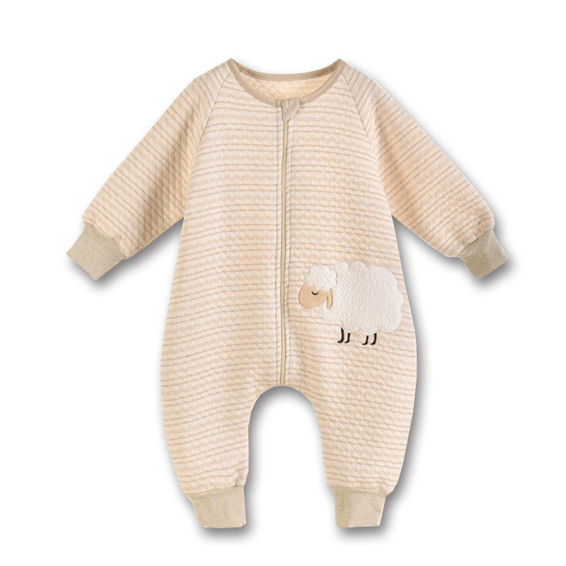 Baby clothing Sleeping Bag Natural Color Cotton Kids Long-Sleeve Pattern Sleep Sack Summer Spring Autumn Baby Girls Boys Rompers warm thicken baby rompers long sleeve organic cotton autumn
