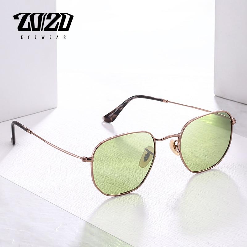 Ehrgeizig 20/20 Marke Unisex Sonnenbrille Männer Polarisierte Vintage Platz Retro Sonnenbrille Für Frauen Metall Brillen Gafas 17033-2 Herren-brillen Sonnenbrillen