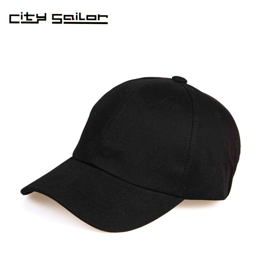 Brand Solid Women Baseball Cap Black Cap Men Summer Hat -8815