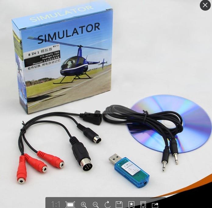 8in1 Usb Flight Simulator Cable Phoenixrealflight G4xtraeroflyfms Forfutaba Esky Jr Wfly 4 8ch Skill Traning Free Shipping In Simulators From Toys