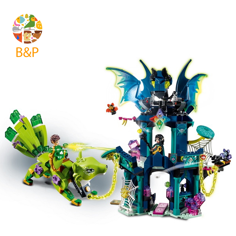 lepin 30018 Elves Series Toys 724Pcs Lenok Tula Tower and Earth Fox Rescue Toy Assembled Building Blocks Compatible with Legoing lepin 30017 505pcs elves series the aira