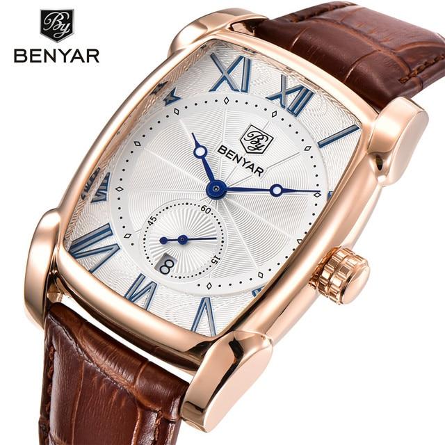 BENYAR Mens Watches Top Brand Luxury Gold Military Man Wristwatch Sport Business Male Clock Waterproof Relogio Masculino 5114