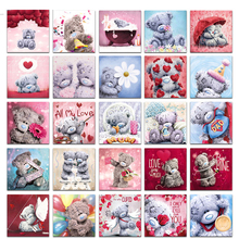 Full Square Drill 5D DIY Diamond Painting Cartoon bear Embroidery Cross Stitch  Home Decor Gift yikee full square drill 5d diamond painting horses 5d diy full squarediamondembroideryrhinestonemosaic painting home decor k514