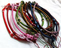 silk thread knot cord hand-knotted chain pendant necklace (adjustable) 10pcs