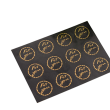 120pcs/lot Decorative Gifts Package Black For You Bronzing Round Self-adhesive Sealing Sticker
