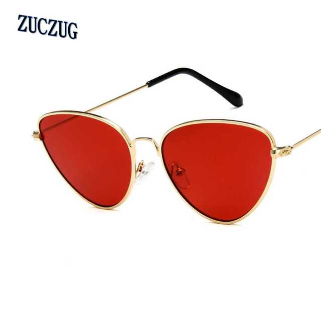 02623c86e22 Retro Vintage Sunglasses Women Small Face Luxury Cateye Pink Ladies  Sunglasses Fashion Men Yellow Tinted Lens