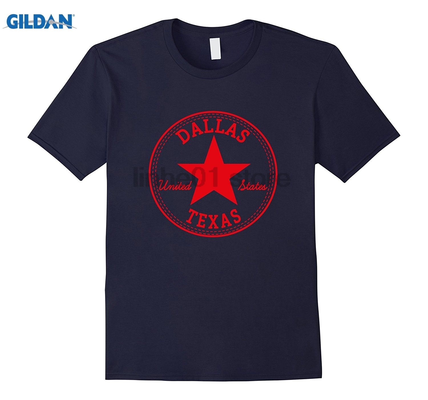 GILDAN Dallas - Texas - United States USA Relaxed Fit T-Shirt glasses Womens T-shirt