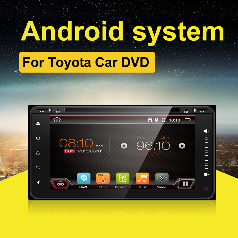 Quad Core 2 Din Universal Android 6 0 Car GPS Navigation for Toyota Stereo Radio