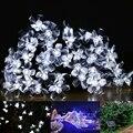 Lâmpadas solares 4.8 M 20 LEDs Luzes Flor Da Flor Decorativa fada Do Jardim de Natal Ao Ar Livre solar do diodo emissor de luz branca À Prova D' Água