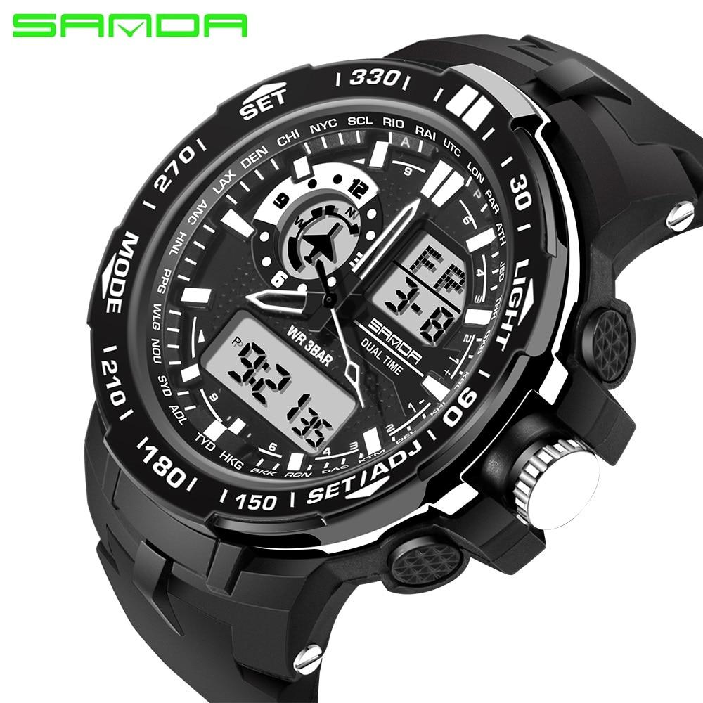 Digitale Uhren Analytisch Sanda 2017 Herrenuhren Top-marke Luxus Berühmte Uhr Männlichen Armbanduhr Digitale Sportuhr Relogio Masculino Um 50 Prozent Reduziert