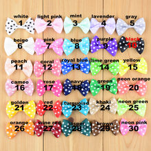 30color New arrival mini bows girl 1.6inch girls hair accessories hand made grosgrain bowknot DIY headwear free shipping HDJ37(China)